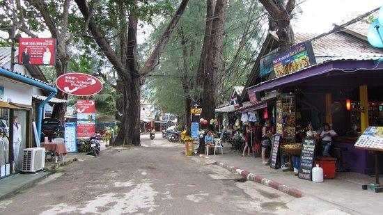Nai Yang Beach: street