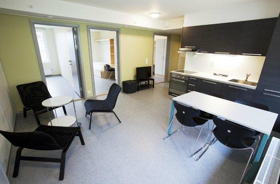 Trondheim Vandrerhjem: common area apartment