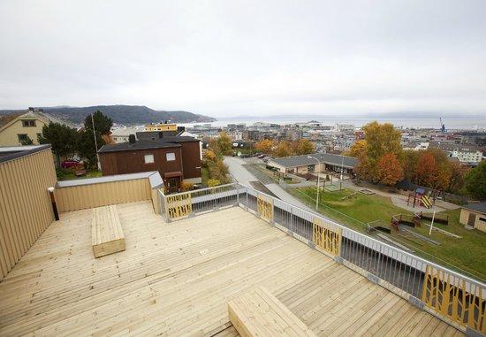 Trondheim Vandrerhjem: view from the balcony