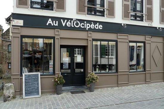 Restaurant Le Vélocipède : la façade du restaurant