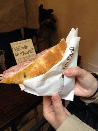 Pane e Toscana: Metà schiacciata
