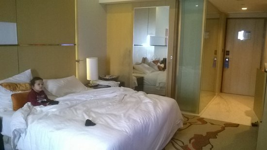 Radisson Blu Hotel Amritsar: My son relaxing in our room.