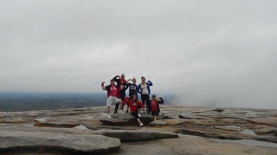 Stone Mountain Park: Family on top of Stone Mountain