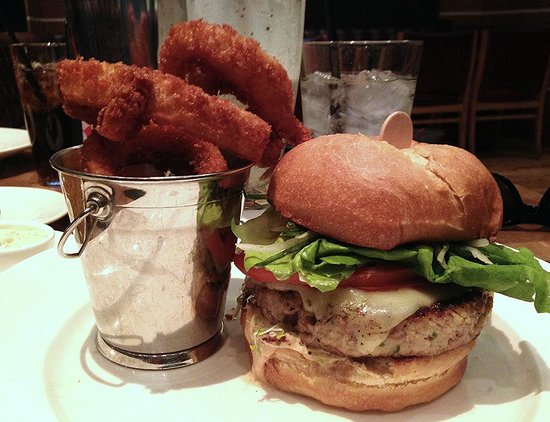 Holsteins Shakes and Buns : Turkey Burger and Onion Rings