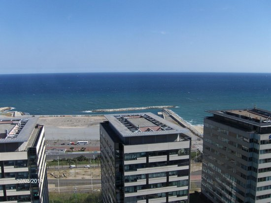 Hilton Diagonal Mar Barcelona: View from our room