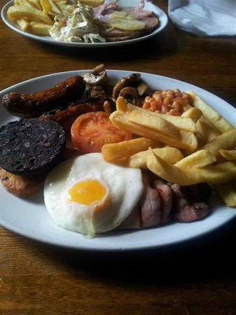Four Crosses Inn: Breakfast