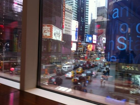 """Crowne Plaza Times Square Manhattan : our view at breakfast """"best seats in the house"""""""