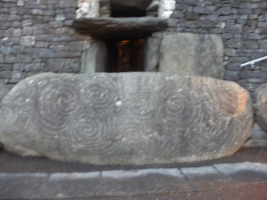 Beautiful Meath Tours: The spectacular Entrance Stone and Roof box at NEWGRANGE Burial tomb..