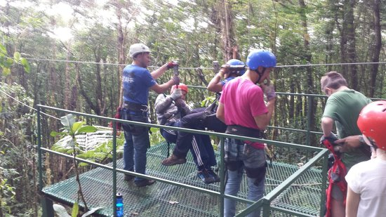 Parque Selvatura: Riding Tandem on last run