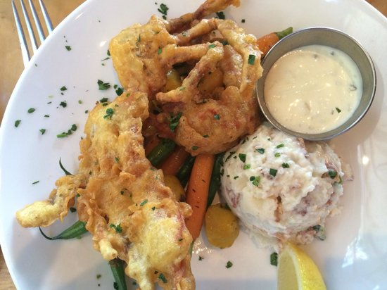 Brigantine Seafood Restaurant : Fried Blue Crab.  You will not regret this decision.