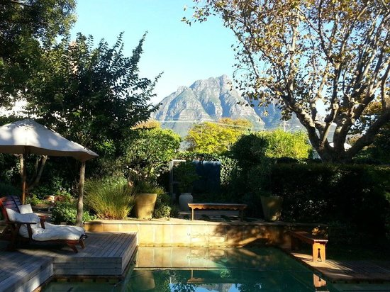 Hedge House : Beautiful View of Table Mountain and the Pool