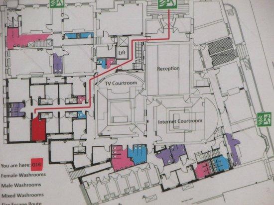 Clink78 : mappa uscite di sicurezza