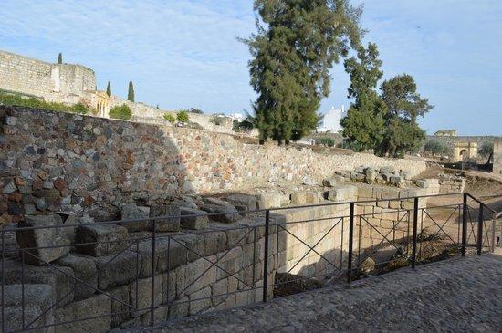 Vista del interior de la Alcazaba Romana.