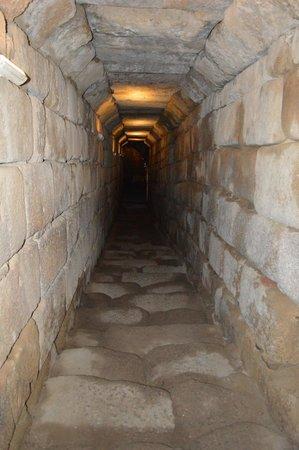 Alcazaba: Bajada interior al Aljibe Romano.