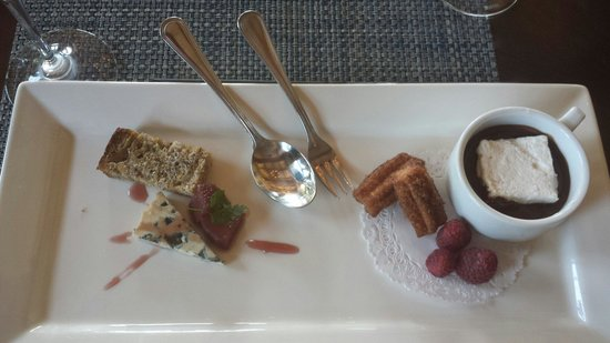 St. Francis Winery and Vineyards : Cheese and dessert hot chocolate. .mmmm!
