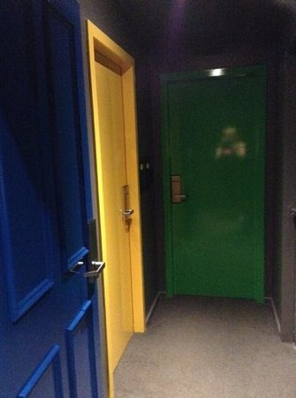 Ovolo Laneways: multicoloured room doors- very funky