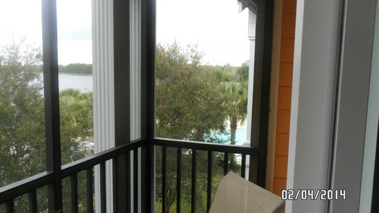 Bahama Bay Resort Orlando by Wyndham Vacation Rentals : very small, but private balcony