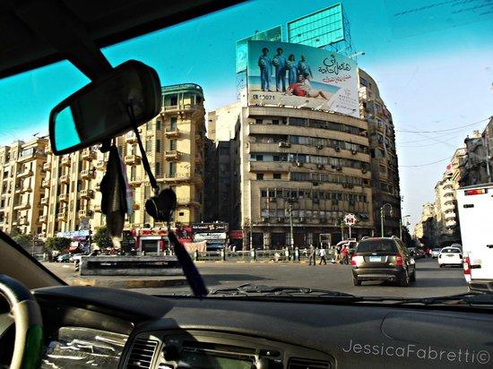 Bella Luna : near the hotel , tahrir square