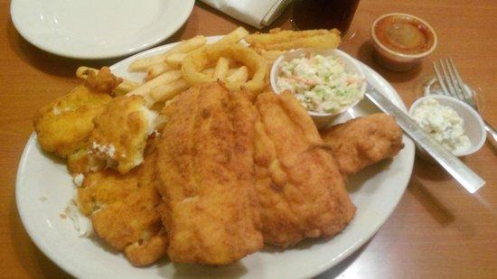 Boston Beef & Seafood: Haddock - large portion and fresh