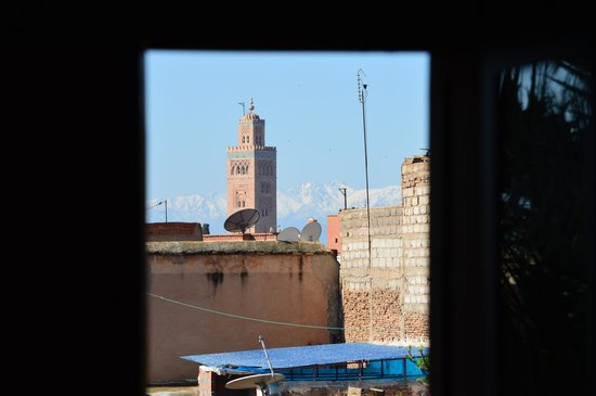Dar Alhambra: vue de la Koutoubia e la chambre