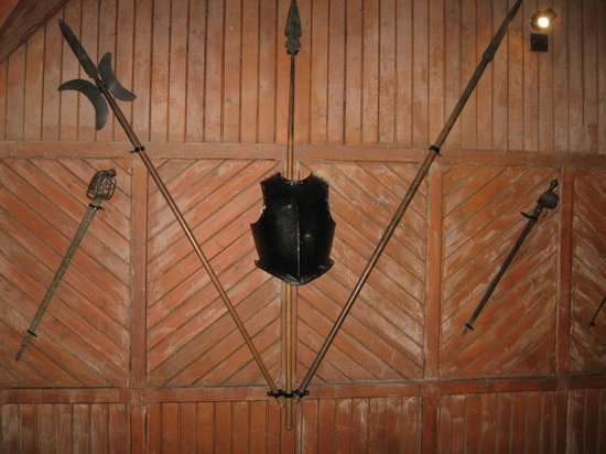 Mary Queen of Scots House: some swords and armour