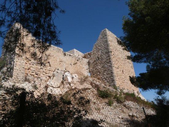Ajlun Castle (Qala'at ar-Rabad) : Muraille du château d'Ajloun