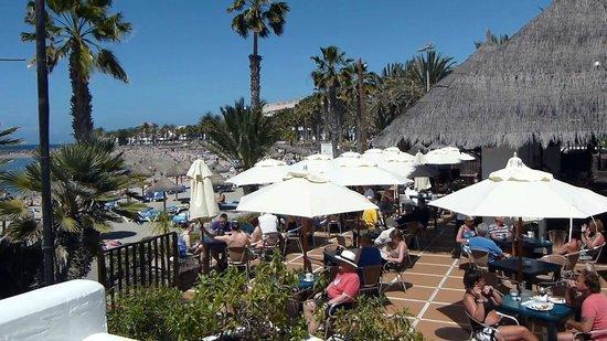 Playa del Camison : View of Playa and Mar Nostrum Beach Club Bar