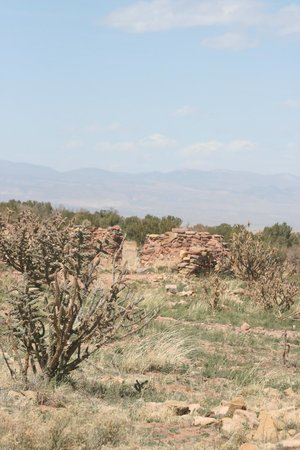 New Mexico Jeep Tours: Part of a ancient Pueblo wall still standing