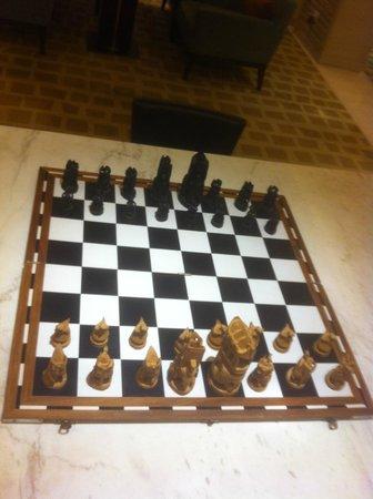Hyatt Regency Chennai: Chess Board in Lounge
