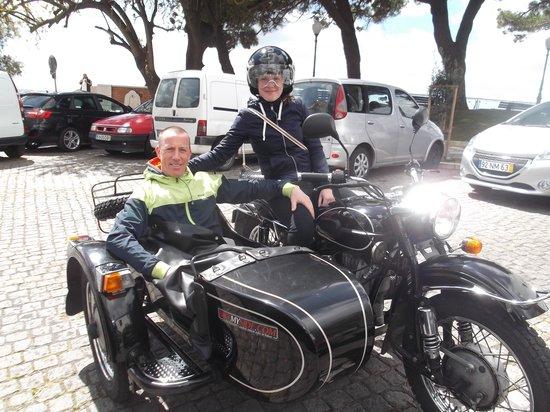 Sidecar Tours by Bike My Side : Natacha and Koen on the bike