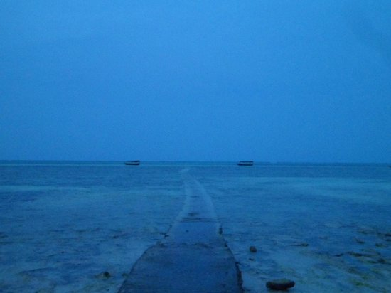 Karafuu Beach Resort and Spa: Passerella per raggiungere la piscina naturale