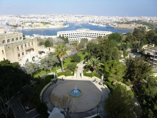 The Phoenicia Malta: View from our room on 3rd floor