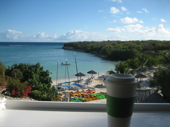 The Verandah Resort & Spa: A great start to the day...a walk, then coffee with a view.