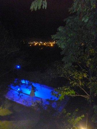 Pousada Vila Pitanga: Vista desde la habitacion a la pile