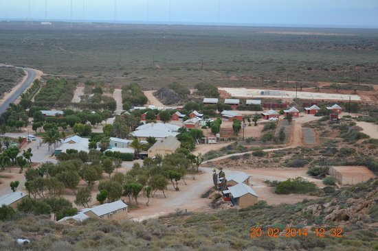 Ningaloo Lighthouse Caravan Park: Widok na camping