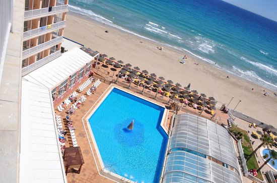 Hotel Entremares: vista mar y piscinas