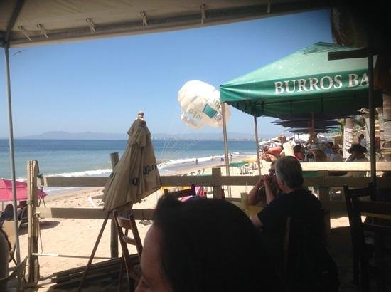 Canto del Mar: view to the north and my son getting ready to parasail!