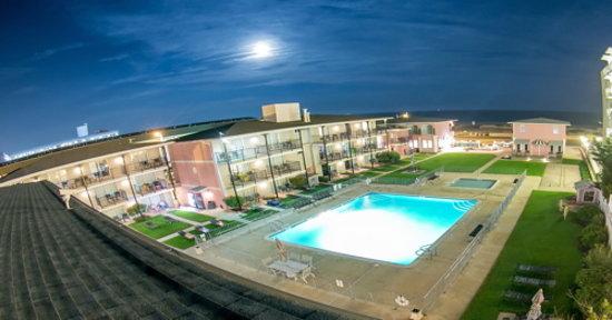 Periwinkle Inn Pool at Night