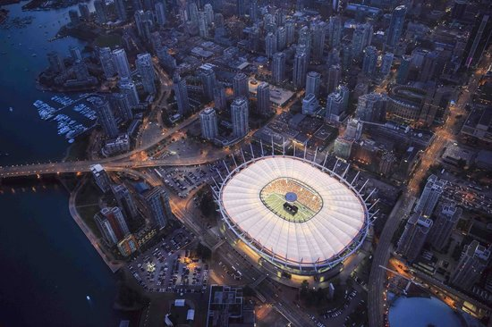 B.C. Place Stadium: BC Place, home of the BC Lions and Vancouver Whitecaps!