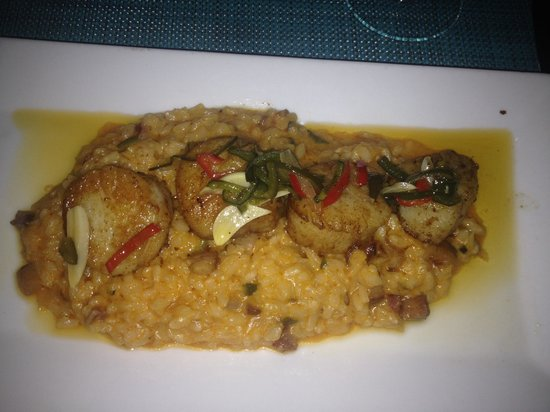 Hot Tin Roof: Scallop Risotto