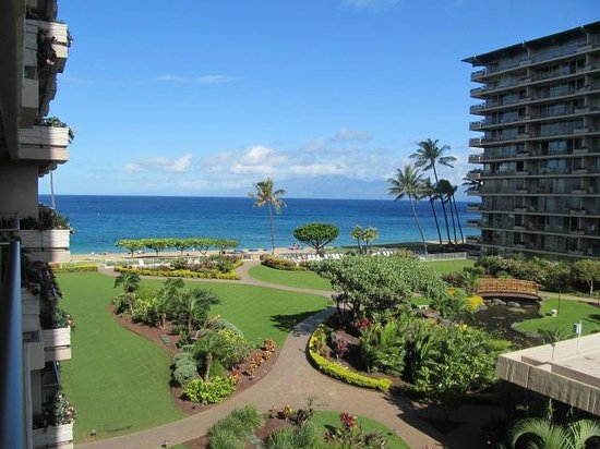 Aston at The Whaler on Kaanapali Beach : View from Lanai from condo 474