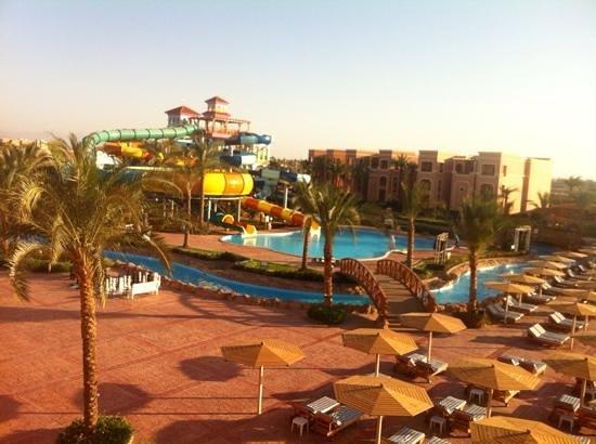 Sea Club Aqua Park: view of aqua park from our balcony room 0121