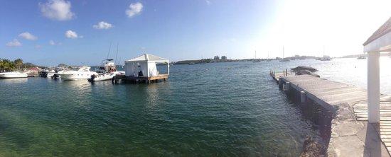 Mercure Saint-Martin Marina & Spa: La vue depuis le ponton