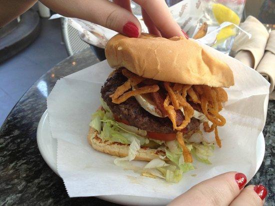 Stripburger : my brie burger, so so tasty!