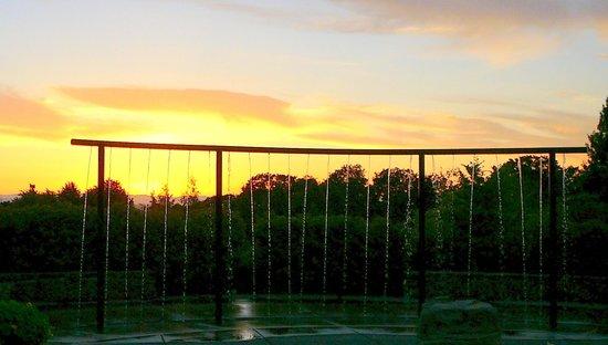 Oregon Garden Resort: Incredible sunset in the garden.