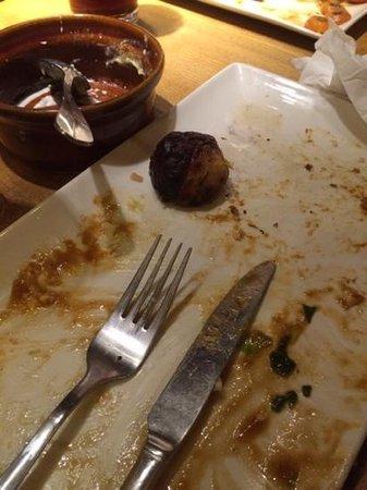 Dun Cow: burnt roast potato