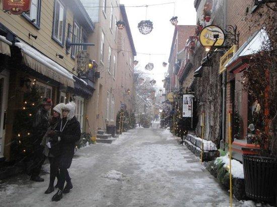 Old Quebec: Lindo mesmo com neve