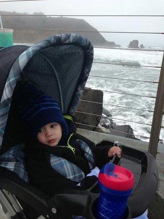 Best Western Plus Lighthouse Hotel: Our son enjoying morning stroll...
