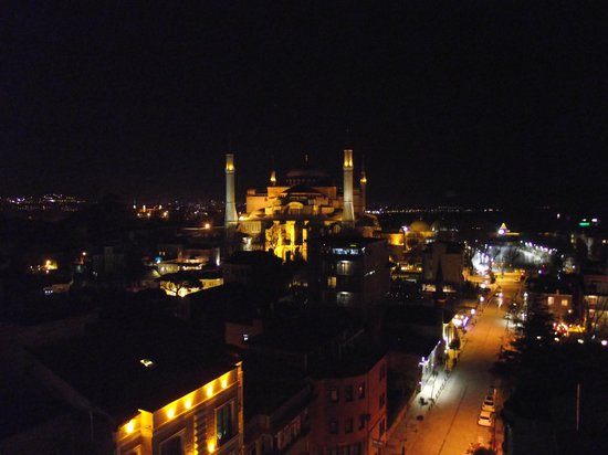 Adamar Hotel : View from rooftop at night