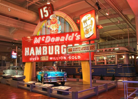 The Henry Ford: Vintage Car, McDonald's Sign, and Lamy's Diner